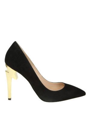 GIUSEPPE ZANOTTI: scarpe décolleté - Décolleté nere G-Heel in camoscio
