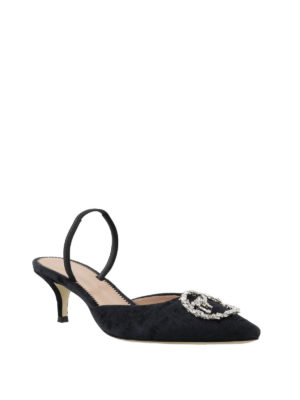 Giuseppe Zanotti: court shoes online - Strass detailed slingback pumps