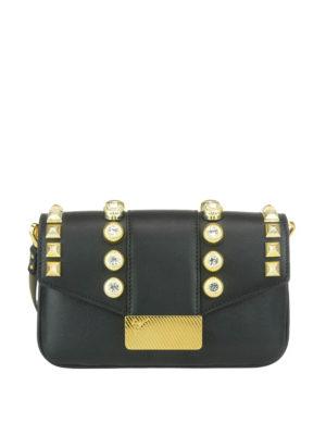 Giuseppe Zanotti: cross body bags - Studded leather bag