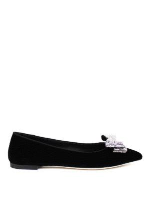 Giuseppe Zanotti: flat shoes - Karolina rhinestone bow flat shoes