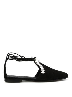 Giuseppe Zanotti: flat shoes - Letizia embellished D'Orsay flats