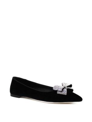 Giuseppe Zanotti: flat shoes online - Karolina rhinestone bow flat shoes