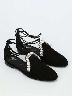 Giuseppe Zanotti: flat shoes online - Letizia embellished D'Orsay flats