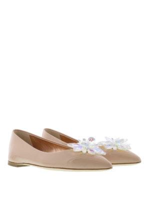 Giuseppe Zanotti: flat shoes online - Lucrezia flower detail flats