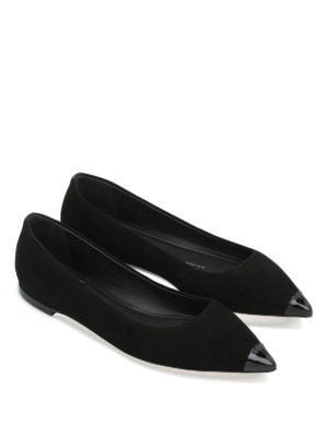 Giuseppe Zanotti: flat shoes online - Lucrezia suede pointy toe flats