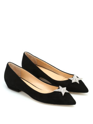 Giuseppe Zanotti: flat shoes online - Yvette suede pointy flats