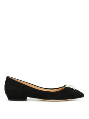 Giuseppe Zanotti: flat shoes - Yvette suede pointy flats