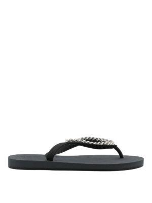 GIUSEPPE ZANOTTI: flip flops - Florida chain detail flip flops