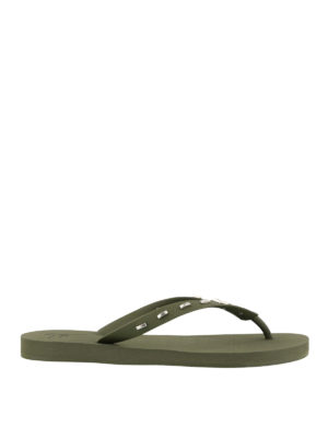 41423a43084d GIUSEPPE ZANOTTI  ciabattine mare - Infradito in gomma verdi. New season. Giuseppe  Zanotti. Olive green rubber thong sandals