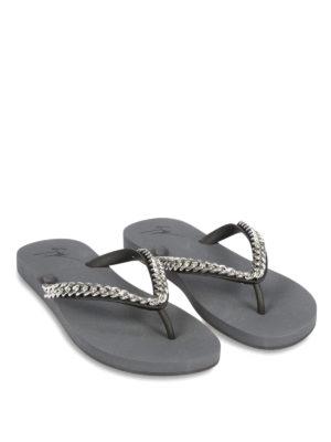 Giuseppe Zanotti: flip flops online - Chain detail Florida flip flops