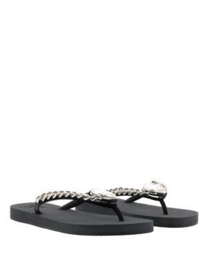 Giuseppe Zanotti: flip flops online - Holliwood embellished flip flops