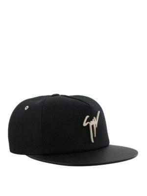 GIUSEPPE ZANOTTI: cappelli - Cappellino Kenneth nero