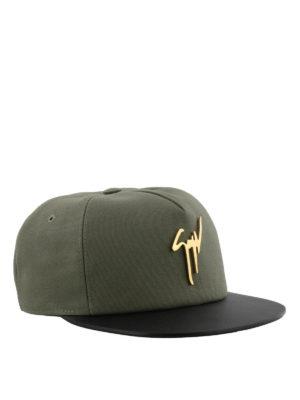 GIUSEPPE ZANOTTI: cappelli - Cappellino Kenneth verde militare