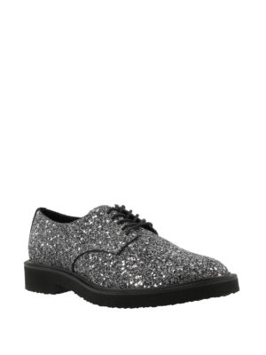 Giuseppe Zanotti: lace-ups shoes online - Tyson glitter Derby shoes