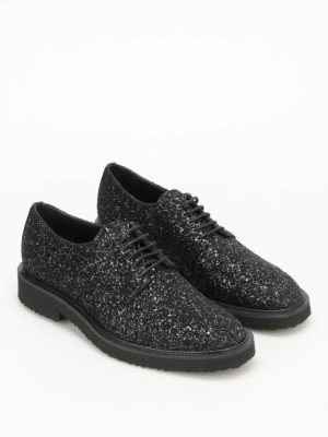 Giuseppe Zanotti: lace-ups shoes online - Tyson glittered Derby shoes