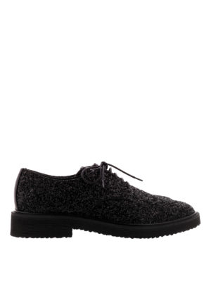 Giuseppe Zanotti: lace-ups shoes - Tyson glitter Derby shoes