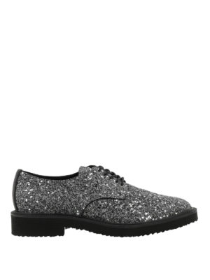 Giuseppe Zanotti: lace-ups shoes - Tyson glitter Derby shoes