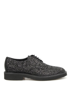 Giuseppe Zanotti: lace-ups shoes - Tyson glittered Derby shoes