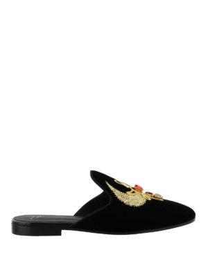 Giuseppe Zanotti: Loafers & Slippers - Aisha velvet slippers