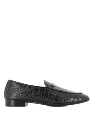Giuseppe Zanotti: Loafers & Slippers - Archibald croco print loafers