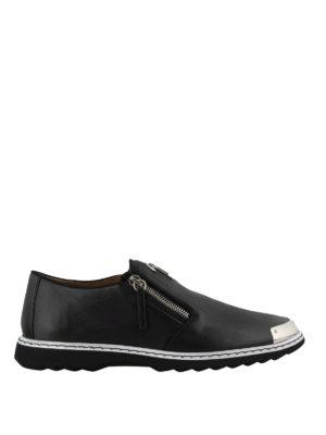 e4edc0cc08b1a4 GIUSEPPE ZANOTTI: Mocassini e slippers - Mocassini sportivi in pelle nera