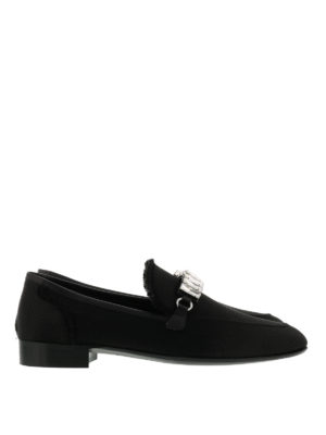 Giuseppe Zanotti: Loafers & Slippers - Cut embellished loafers