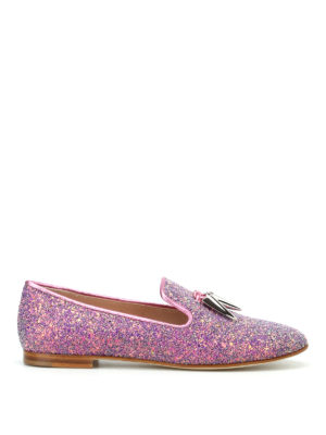 Giuseppe Zanotti: Loafers & Slippers - Dalila glittered pink slippers