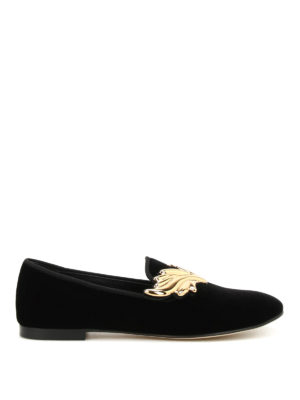 Giuseppe Zanotti: Loafers & Slippers - Dalila velvet slippers