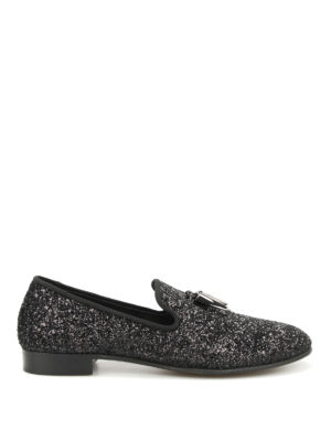 Giuseppe Zanotti: Loafers & Slippers - Kevin glittered slippers
