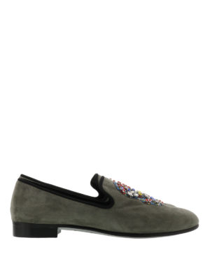 Giuseppe Zanotti: Loafers & Slippers - Kevin skull embellished loafers