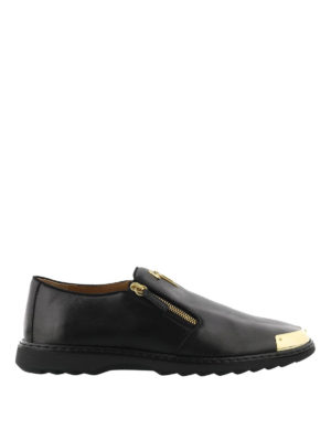 Giuseppe Zanotti: Loafers & Slippers - Kevin zipped leather loafers
