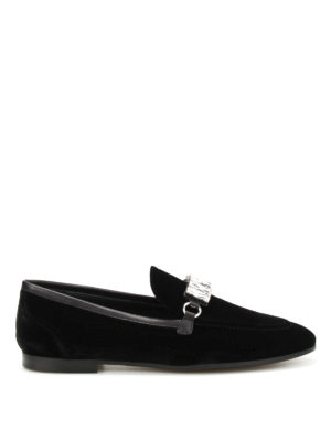 Giuseppe Zanotti: Loafers & Slippers - Letizia embellished velvet loafers