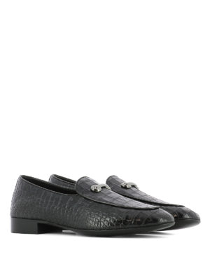 Giuseppe Zanotti: Loafers & Slippers online - Archibald croco print loafers
