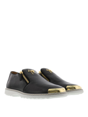 Giuseppe Zanotti: Loafers & Slippers online - Cooper leather slippers