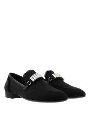 Giuseppe Zanotti: Loafers & Slippers online - Cut embellished loafers
