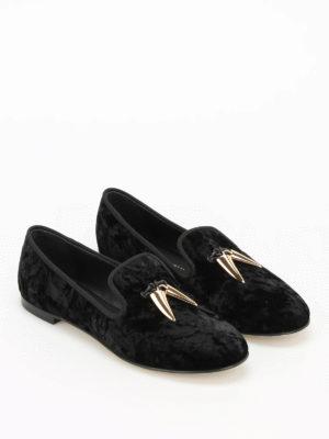 Giuseppe Zanotti: Loafers & Slippers online - Dalila crumpled velvet slippers