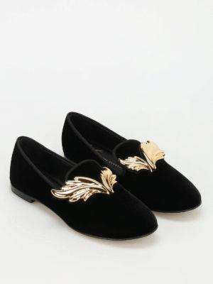 Giuseppe Zanotti: Loafers & Slippers online - Dalila velvet slippers