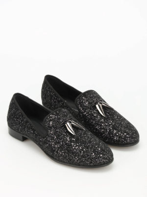 Giuseppe Zanotti: Loafers & Slippers online - Kevin glittered slippers