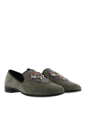 Giuseppe Zanotti: Loafers & Slippers online - Kevin skull embellished loafers
