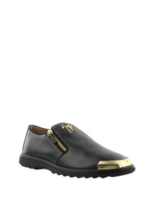 Giuseppe Zanotti: Loafers & Slippers online - Kevin zipped leather loafers
