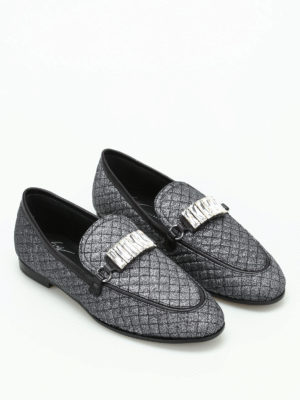 Giuseppe Zanotti: Loafers & Slippers online - Letizia glittered loafers
