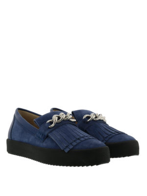 Giuseppe Zanotti: Loafers & Slippers online - May London suede loafers