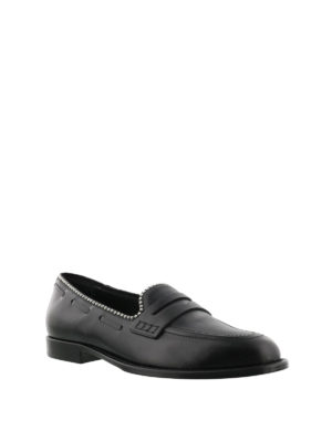 Giuseppe Zanotti: Loafers & Slippers online - Stud trim leather loafers