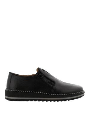 GIUSEPPE ZANOTTI: Mocassini e slippers - Mocassini Ron in pelle con suola da sneaker