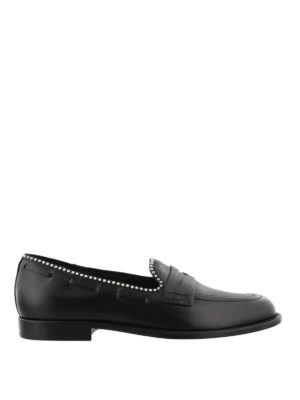 Giuseppe Zanotti: Loafers & Slippers - Stud trim leather loafers