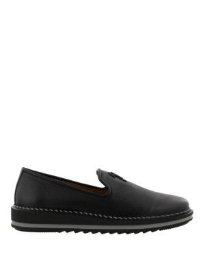GIUSEPPE ZANOTTI: Mocassini e slippers - Mocassini Tim in pelle con suola da sneaker