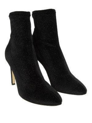 GIUSEPPE ZANOTTI: tronchetti online - Tronchetto Celeste vellutato nero con glitter