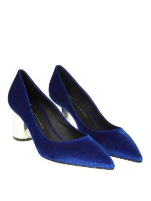 GIUSEPPE ZANOTTI: scarpe décolleté online - Décolleté Crudelia in velluto blu elettrico