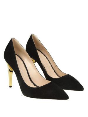 GIUSEPPE ZANOTTI: scarpe décolleté online - Décolleté nere G-Heel in camoscio