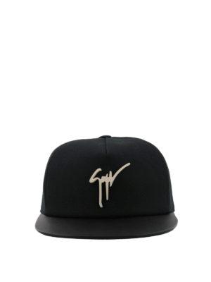 GIUSEPPE ZANOTTI: cappelli online - Cappellino Kenneth nero